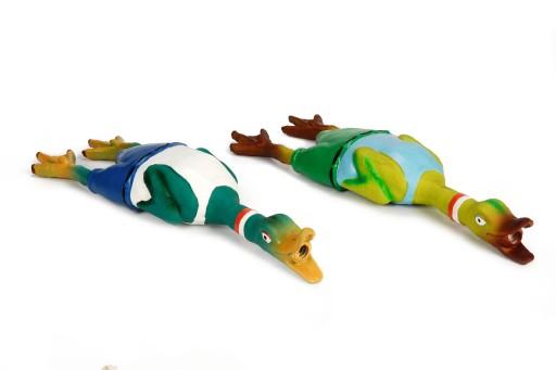 Latex eend met eendengeluid hondenspeelgoed