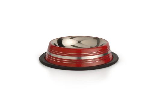 Beeztees Stripes - Hondenvoerbak - Antislip - Rood