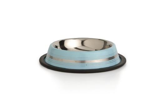 Beeztees Stripes - Hondenvoerbak - Antislip - Blauw