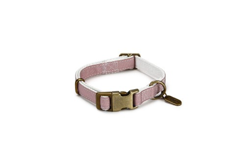 Designed By Lotte Nylon Halsband Virante - Licht Roze - 26/40 cm x 15 mm
