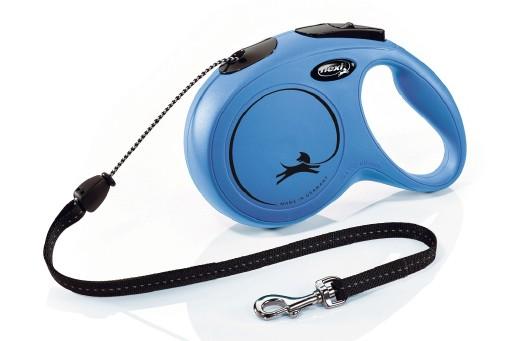 Flexi Classic Cord 8 meter Medium Blauw