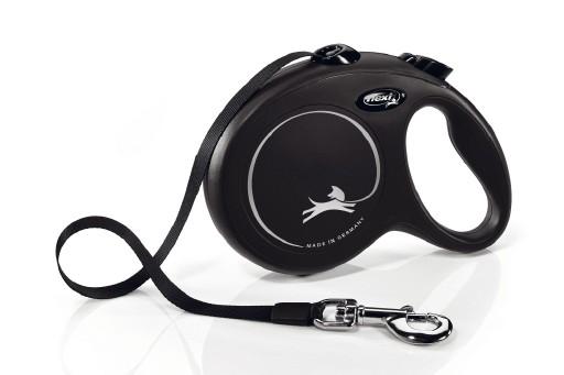 Flexi New Classic - Hondenriem - Band - Zwart - L - 5M