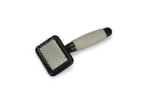 Beeztees slickerborstel - knaagdier - zwart grijs - 12cm