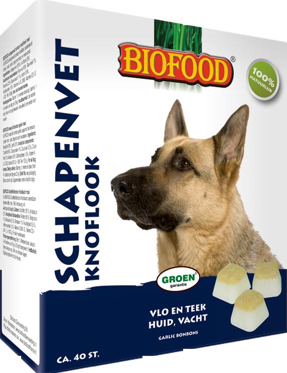 Biofood Schapenvet Maxi Bonbons met knoflook Per verpakking