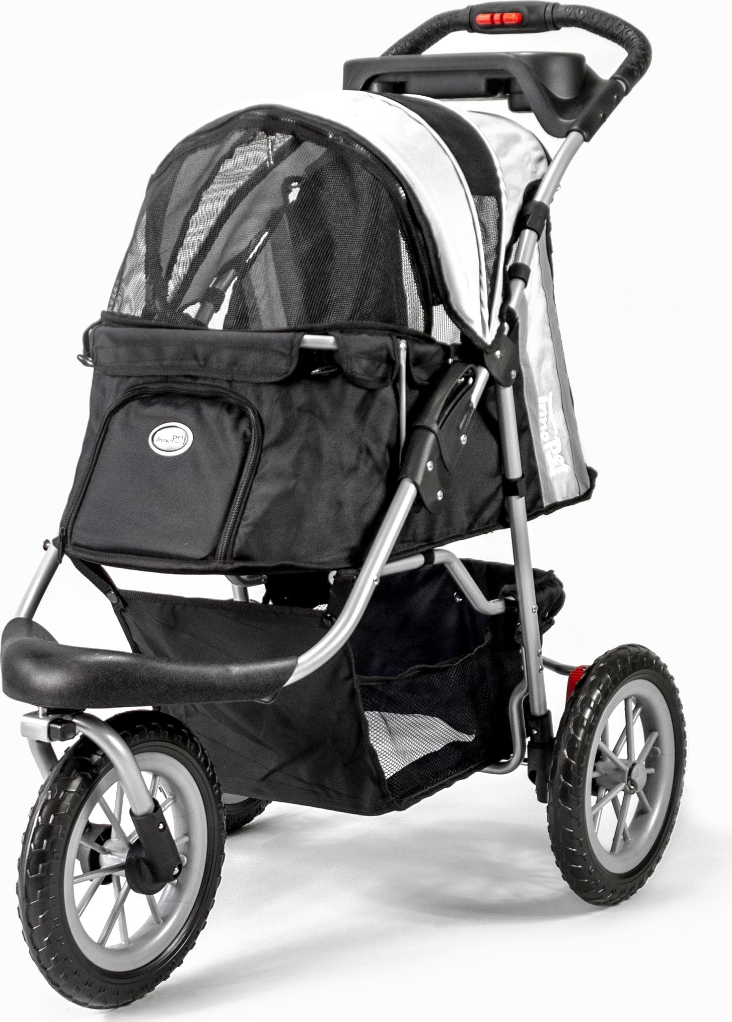 Innopet Hondenbuggy Comfort Efa - Hondentrolley - 46x31x88 cm Zwart Grijs